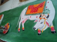 Cow painted for krishna Island Co Fermanagh